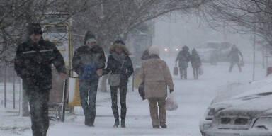 Heftiger Schneefall in Polen
