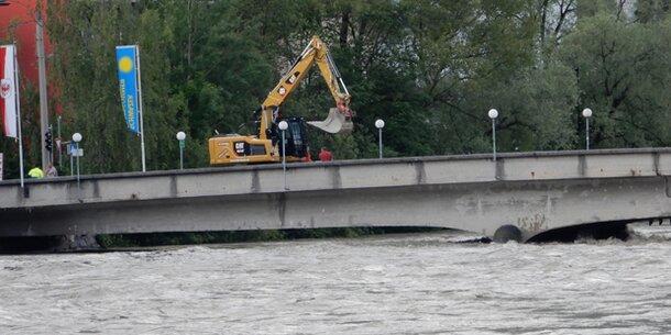 Inn tritt über die Ufer: Hochwasser-Alarm