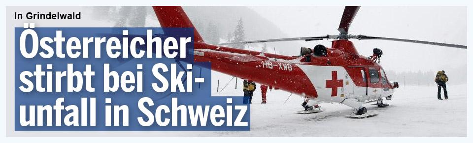 Österreicher stirbt bei Skiunfall in der Schweiz