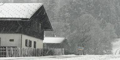 Wintereinbruch in Österreich: Vorarlberg