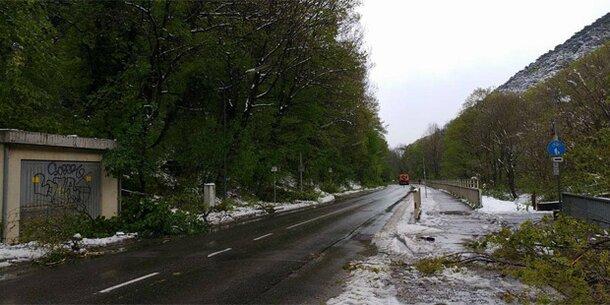 Schnee-Chaos: Kaltenleutgebner Straße wieder frei