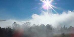 Sonne und Nebel: So wird das Wetter heute