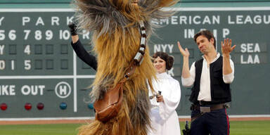 "Chewbacca durfte am ""Star Wars Day"" Baseball spielen"