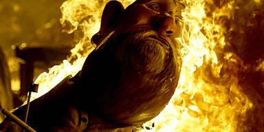 Der Schutzpatron der Zimmerleute, St. Josef, wird in Valencia mit viel Feuer gefeiert