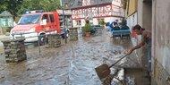 Kleinstadt in Rheinland-Pfalz überflutet