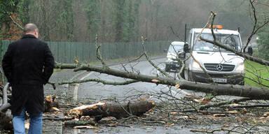 Sturm fegt über England