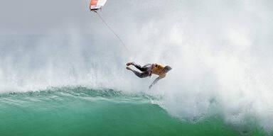 Die Surf-Elite duelliert sich derzeit vor der Küste Kaliforniens