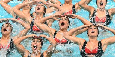 In Kazan findet derzeit die WM im Synchronschwimmen statt