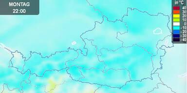 Temperaturkarte