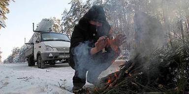 Kälte in der Ukraine