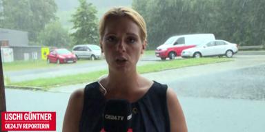 Unwetter und Starkregen in Teilen Österreichs