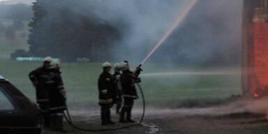 Brand nach Blitzeinschlag