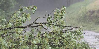 Unwetter in Ostösterreich