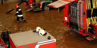 Überschwemmungen nach schweren Unwetterm