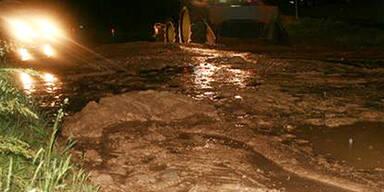 Überschwemmungen nach schweren Unwettern