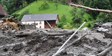Murenabgang in der Steiermark