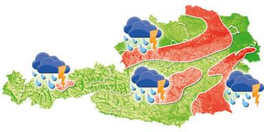 Unwetterkarte GRAFIK