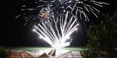 Spektakuläres Feuerwerk über Venedig