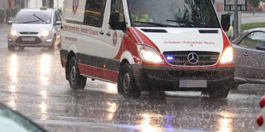 Sintflutartige Regenfälle in Wien