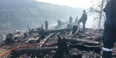 Waldbrand Frein an der Mürz