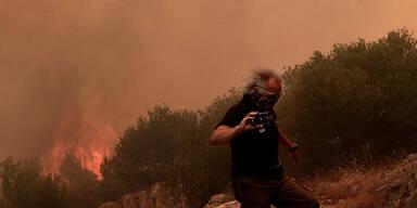 Mega-Hitze führt zu Waldbränden in Griechenland