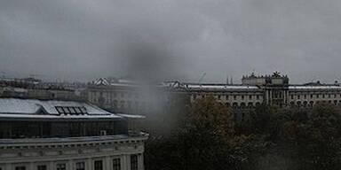 dichte Wolken über Wien