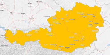 Jetzt kommt sogar orange Hitze-Warnung für ganz Österreich