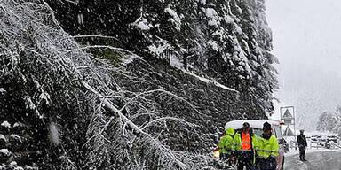 Wintereinbruch in Westösterreich
