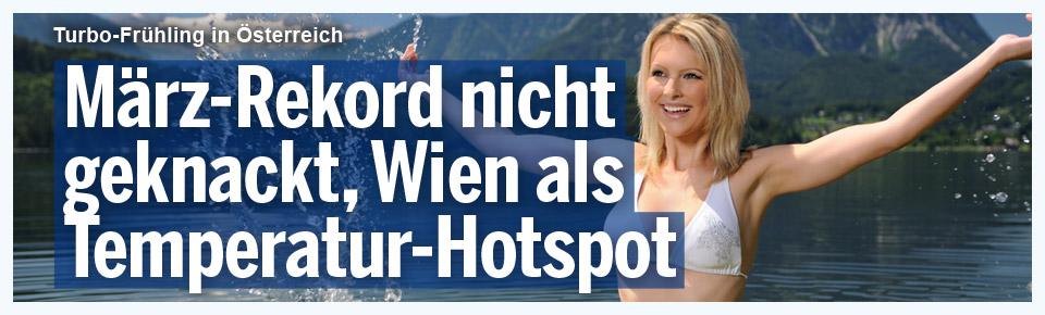 Wien heute Temperatur-Hotspot Österreichs