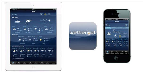 Neue wetter.at-App für iPhone und iPad ist da