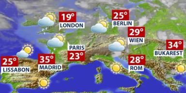 Aktuelle Wetterprognose für Freitag (30.07.2021)