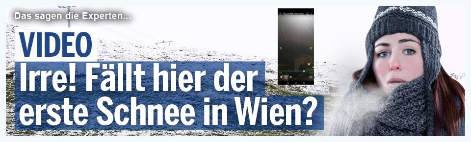 Irre! Fällt hier der erste Schnee in Wien?