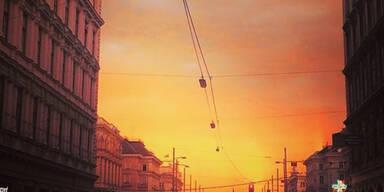 Himmels-Spektakel bezaubert Wien
