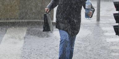 Sintflut-Regen überschwemmt Wien