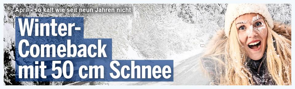 Winter-Comeback mit 50 cm Schnee