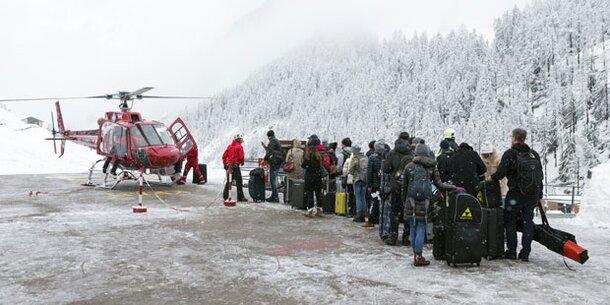 Touristen in Zermatt sitzen weiter fest